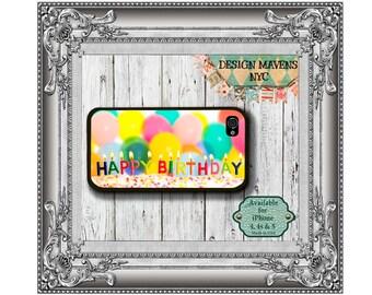 Happy Birthday iPhone Case, Hard Plastic iPhone Case, Fits iPhone 4, iPhone 4s, iPhone 5, iPhone 5s, iPhone 5c, iPhone 6, 6 Plus, Phone Case