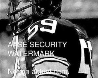 RARE Jack Ham Pittsburgh Steelers Art Print Lmt ONLY 50