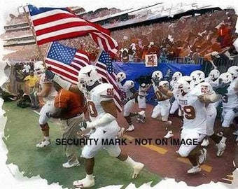 Great Univ of Texas Longhorns Team Art Print only 50 ex