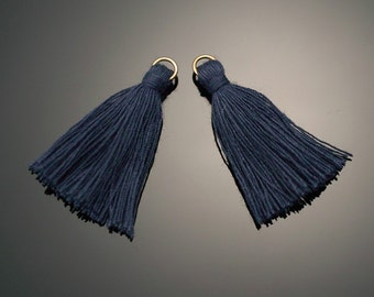 4002121 / Indigo / Mini Thread Tassel 6mm x 37mm / 0.5g / 150strands / 2pcs