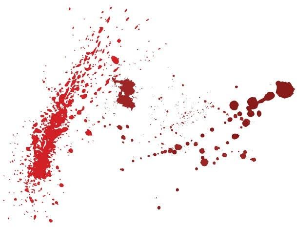Blood Spatter Vinyl Decal