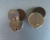 vintage coin clip earrings