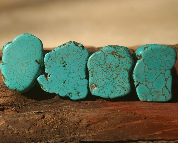 Turquoise drawer pull stone cabinet knobs by knuckleheadknobs for Turquoise cabinet pulls