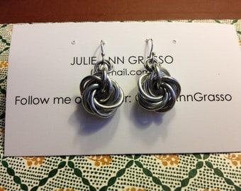 Mobius Ball Chainmail Earrings
