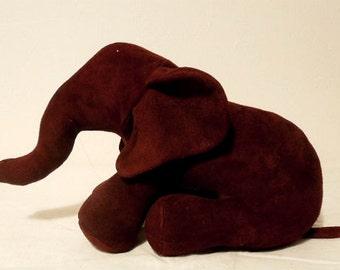 Genuine suede.REd, Bordo color   elk   suede.Leather. Elephant...  Toy...