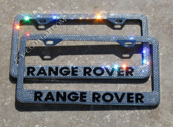 range rover custom swarovski crystal bling license plate frame