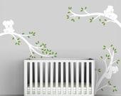 White Tree Wall Decal Baby Nursery White Tree Sticker Modern Decor - Koala Tree Branches by LittleLion Studio
