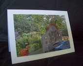 Original Photo Card--Greeting Card--Bed in a Garden--All Occasion Card--Flowers