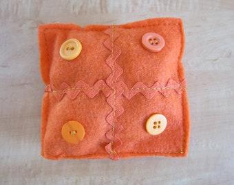 Orange Buttoned Scented Sachet