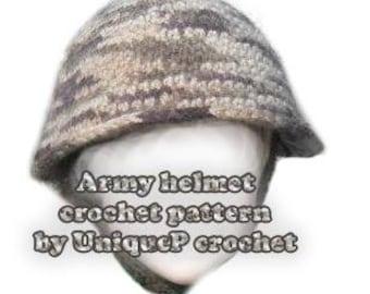 Pattern Crochet PDF - Army Helmet for kids