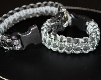 Paracord Bracelet with Covert Handcuff key buckle