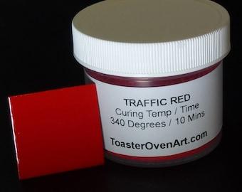 Traffic Red Powder Coating