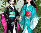 JADE a pattern for Evangeline Ghastly Wilde's 17 thru 19 inch Vinyl, New Plastic and Resin Dolls a Classic Kimono  Pattern with Obi