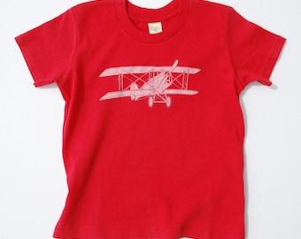 Vintage Bi-plane Kid's T Shirt, 2T, 3T, 4T