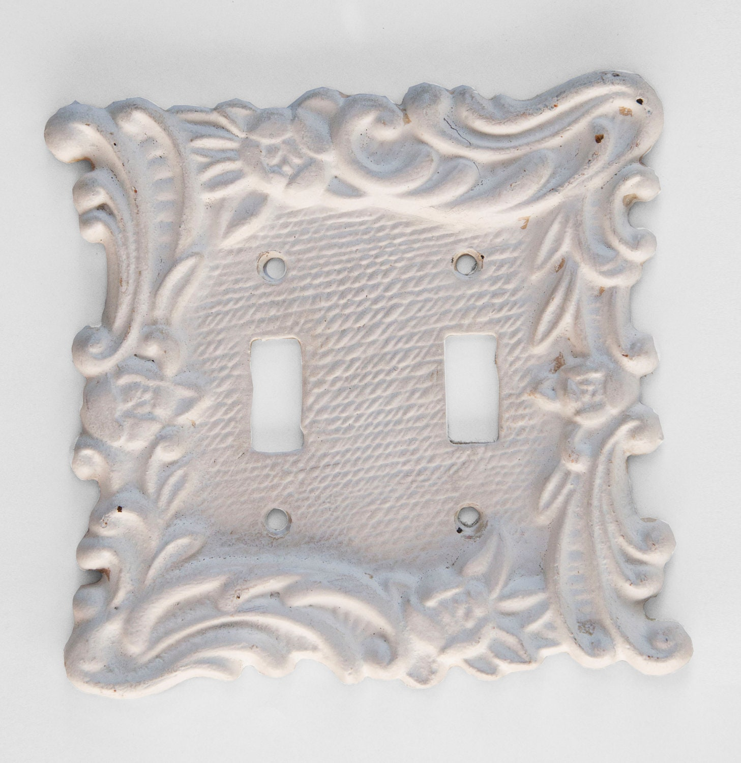 Cast Iron Double Light Switch Plate Shabby Chic By