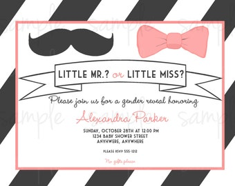 Little Lady or Little Man Gender Reveal Invitation