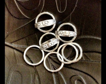 10 STERLING SILVER SPACER Beads