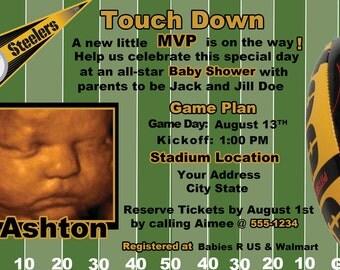 Pittsburgh Steelers Football Baby Shower Invite