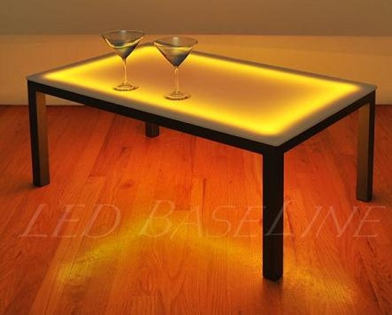 22 led lighted color changing coffee table display glass Led coffee table