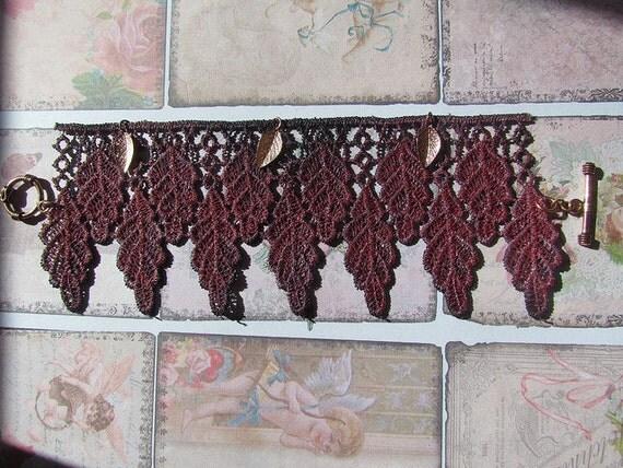 Lace Bracelet - purple - copper - Ophelia - REVERSIBLE