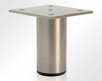 ALICE- Metal Leg, Round Stainless Steel Leg, Metal Leg