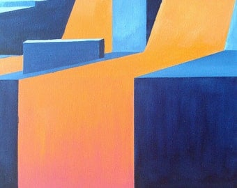 """Geometric Abstraction - """"Dismount"""""""
