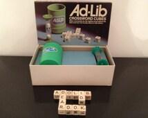 Ad-Lib Crossword Cubes by E.S. Lowe 1975
