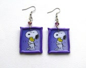 Snoopy polymer clay Earrings