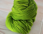 Elven Green Merino Superwash Sock Yarn - Moon Stone Farm