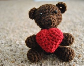 Crochet Bear with Heart - Reserved