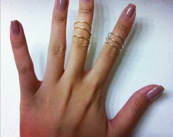 Triple Dainty Knuckle Ring
