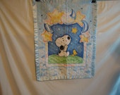 Snoopy and Woodstock baby blanket