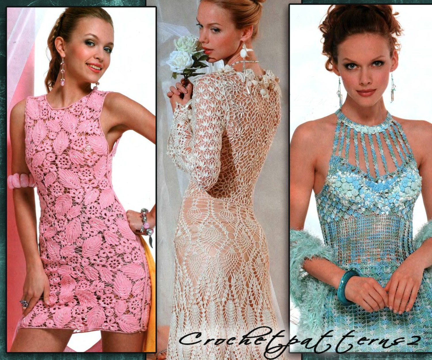 Crochet Stitches For Dresses : ebook crochet patterns. Womens crochet by Crochetpatterns2