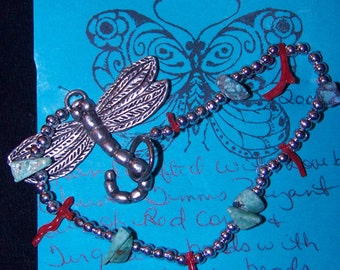 DragonFly Fantasy Beaded Bracelet