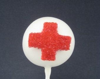 Red Cross Cake Pops