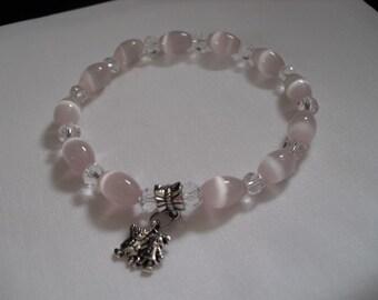 Pretty pink mexican opal bracelet
