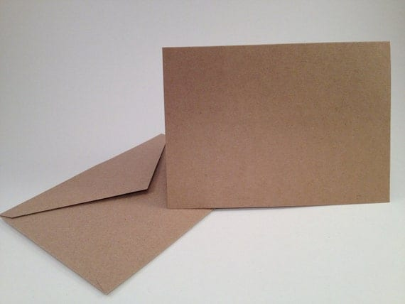 items similar to 50 kraft blank greeting cards and