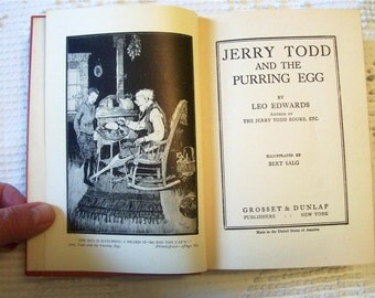 1926 Jerry Todd and The Purring Egg by Leo Edwards