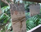 PRINTABLE Customised Rustic & Vintage Leaf Wedding Invitation Set