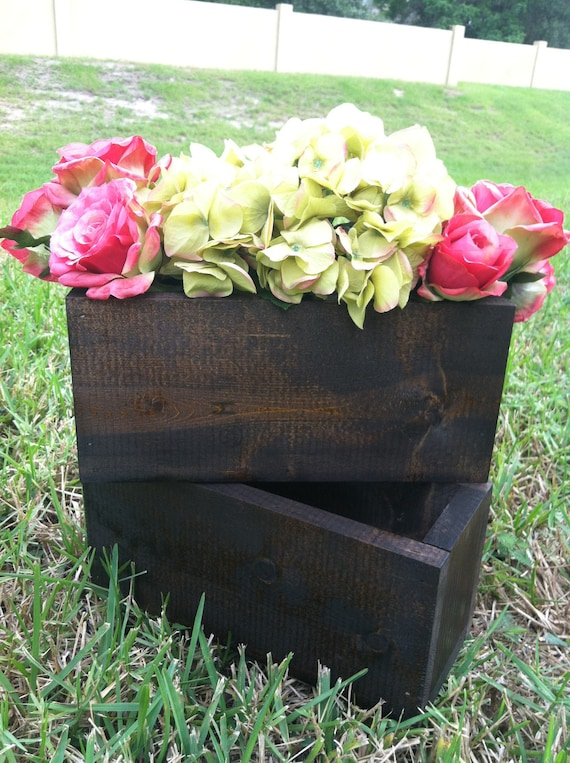 Items Similar To Wood Flower Boxes For Wedding