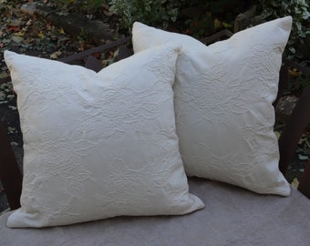 "18"" x 18"" Natural Cotton Pillow Covers"