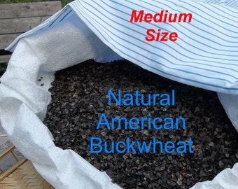 "Buckwheat Hull Pillow - Ecofriendly - Traditional (Medium) Size 14"" X 19"""