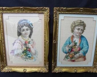 Antique Cards Valentine Custom Framed  Cards