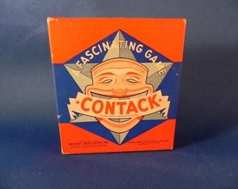 Vintage Game Contack Parker Brothers Copyright 1939