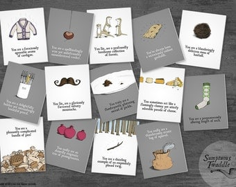 Sumptuous Twaddle Fun and Quirky Greetings Cards - 5 cards pick & mix .