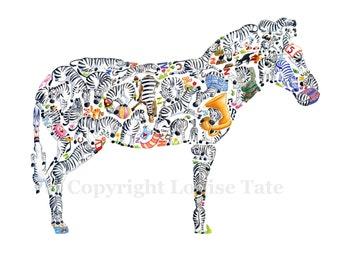 Z is for Zebra - Children's Art Print, Signed