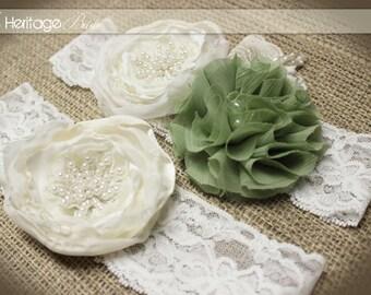 Wedding Garter, Bridal Wedding, Lace Garter, Vintage garter, Lace garter, Green Garter, ivory garter, Lace Garter, Bridal garter, vintage