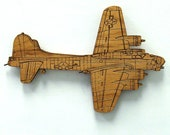 B-17 Flying Fortress Wooden Fridge Magnet