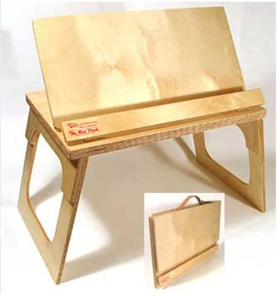 Original bed desk portable bookstand lap stand by for How to make a bed stand