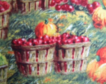 Harvest Quilts fabric--apple picking--by the yard--Elizabeth's Studio